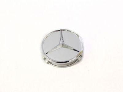 Mercedes-Benz Star  Emblem Silver Chrome Alloy Wheel Hub Cap