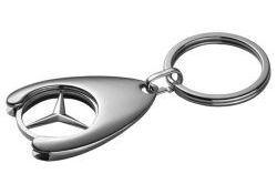 Genuine Mercedes-Benz Shopping Trolley Chip Keyring